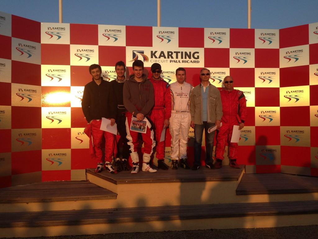 Podium Endurance : 1er TOULON NEW'S F1, 2nd CASTELLET TEAM, 3ème CARQUEIRANNE ECUREUIL