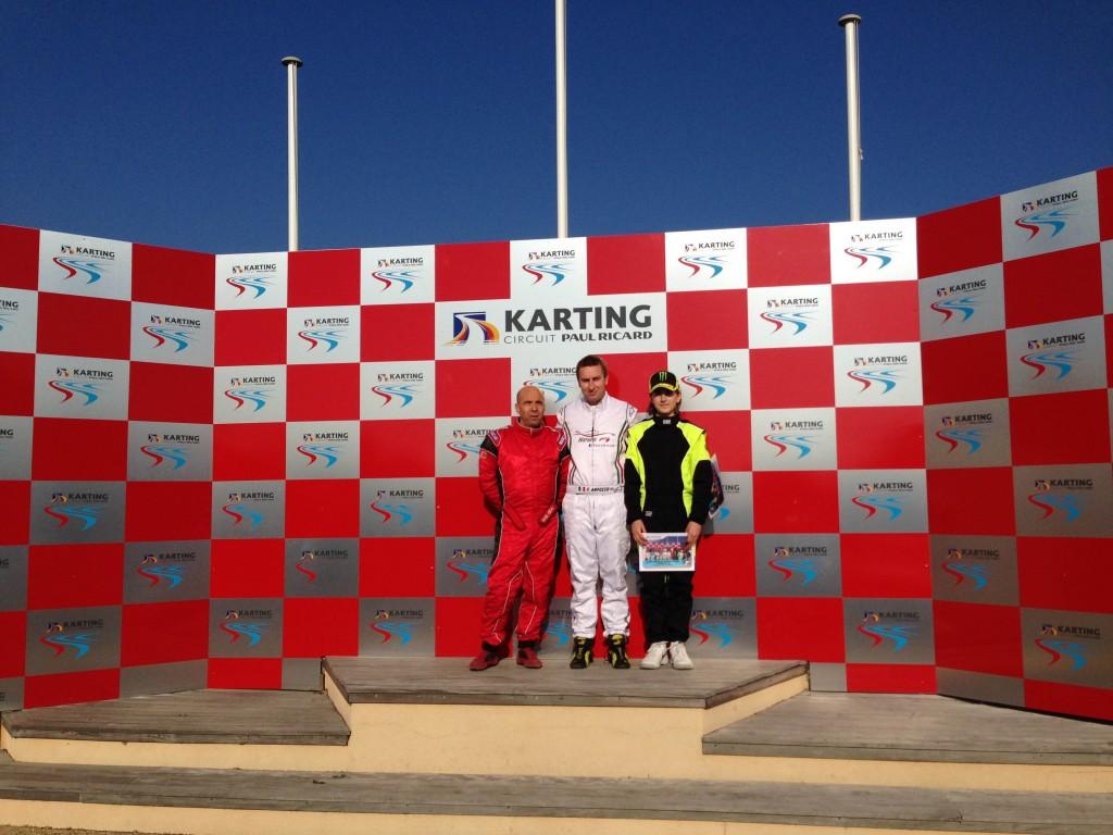 Podium sprint A : 1er Franck ANFONSO, 2nd Daniel JAUBERT, 3ème Lucas SANTINI